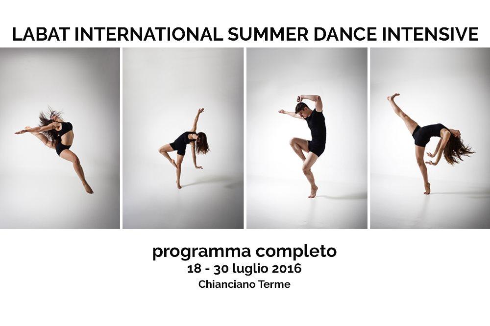 LABAT INTERNATIONAL SUMMER DANCE INTENSIVE Programma completo