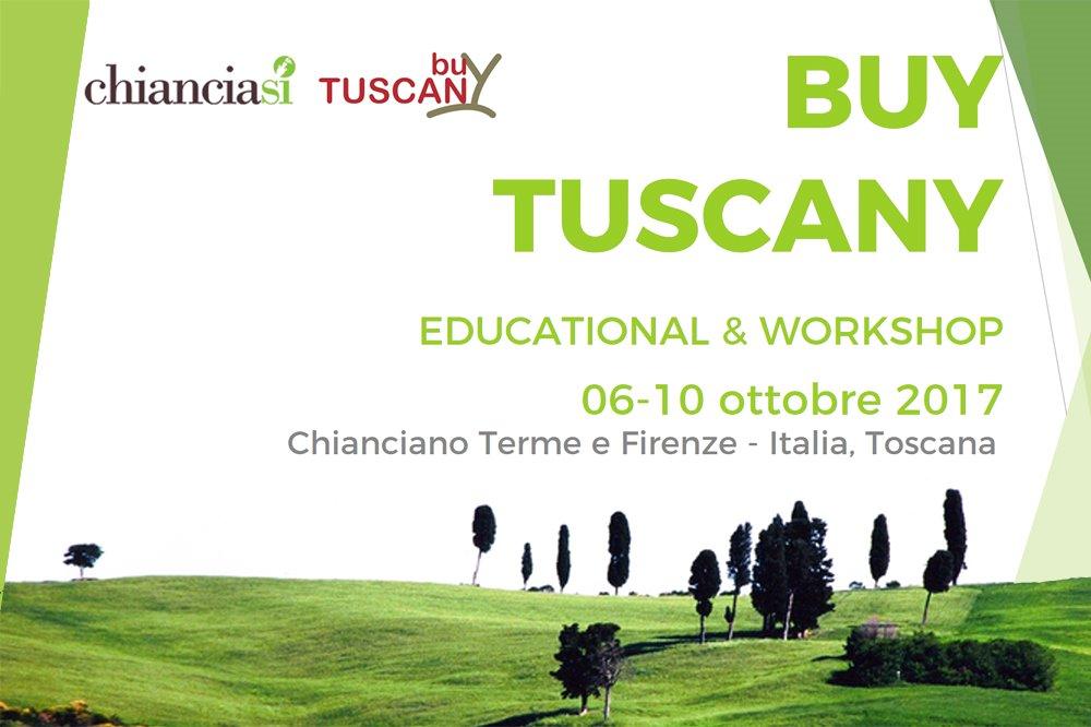 BUY TUSCANY: EDUCATIONAL & WORKSHOP 6-10 ottobre 2017 - 23 Buyers Italiani in visita a Chianciano Terme